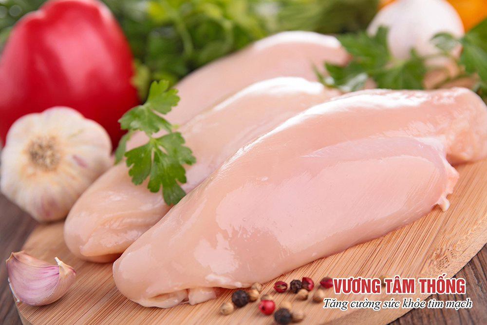 Người bệnh xơ vữa động mạch nên ưu tiên ăn thịt trắng thay vì thịt đỏ